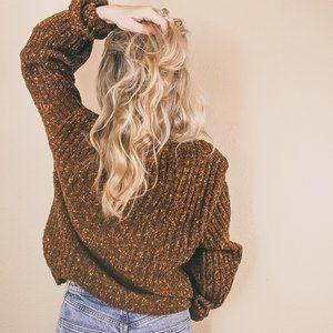 Vintage 70s Mens Virgin Wool Long Sleeve Sweater